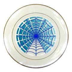 Cobweb Network Points Lines Porcelain Plates