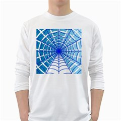 Cobweb Network Points Lines White Long Sleeve T-Shirts