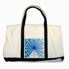 Cobweb Network Points Lines Two Tone Tote Bag