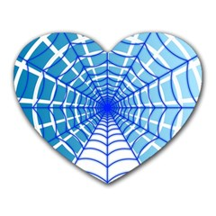 Cobweb Network Points Lines Heart Mousepads