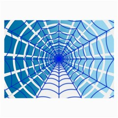 Cobweb Network Points Lines Large Glasses Cloth (2 Side)