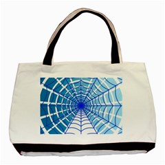 Cobweb Network Points Lines Basic Tote Bag (two Sides)