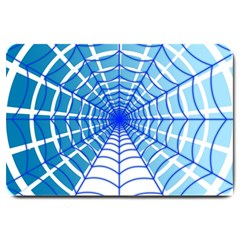Cobweb Network Points Lines Large Doormat