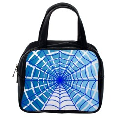 Cobweb Network Points Lines Classic Handbags (One Side)