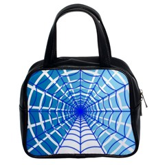 Cobweb Network Points Lines Classic Handbags (2 Sides)