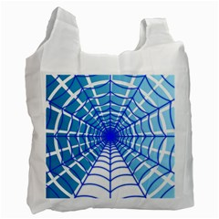 Cobweb Network Points Lines Recycle Bag (one Side)