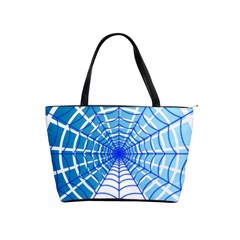 Cobweb Network Points Lines Shoulder Handbags