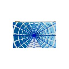 Cobweb Network Points Lines Cosmetic Bag (small)