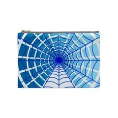 Cobweb Network Points Lines Cosmetic Bag (Medium)