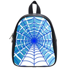 Cobweb Network Points Lines School Bags (small)