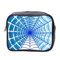Cobweb Network Points Lines Mini Toiletries Bag 2 Side