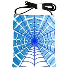 Cobweb Network Points Lines Shoulder Sling Bags