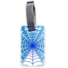Cobweb Network Points Lines Luggage Tags (one Side)