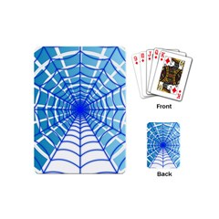 Cobweb Network Points Lines Playing Cards (mini)