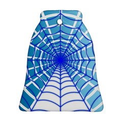 Cobweb Network Points Lines Ornament (bell)