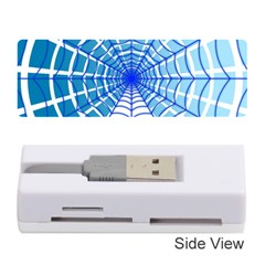Cobweb Network Points Lines Memory Card Reader (stick)