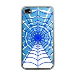 Cobweb Network Points Lines Apple Iphone 4 Case (clear)