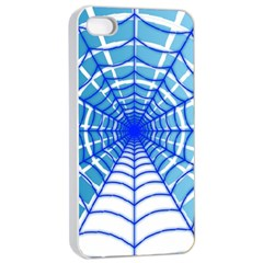 Cobweb Network Points Lines Apple Iphone 4/4s Seamless Case (white)