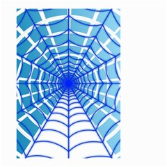 Cobweb Network Points Lines Small Garden Flag (two Sides)