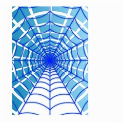 Cobweb Network Points Lines Large Garden Flag (two Sides)