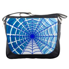 Cobweb Network Points Lines Messenger Bags