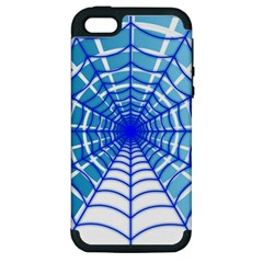Cobweb Network Points Lines Apple iPhone 5 Hardshell Case (PC+Silicone)
