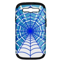 Cobweb Network Points Lines Samsung Galaxy S Iii Hardshell Case (pc+silicone)