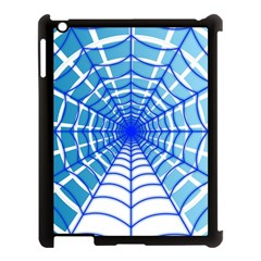 Cobweb Network Points Lines Apple iPad 3/4 Case (Black)