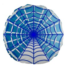 Cobweb Network Points Lines Large 18  Premium Round Cushions