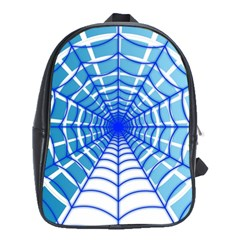 Cobweb Network Points Lines School Bags (xl)