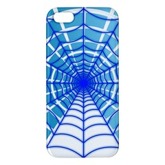 Cobweb Network Points Lines Apple Iphone 5 Premium Hardshell Case
