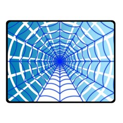 Cobweb Network Points Lines Double Sided Fleece Blanket (small)