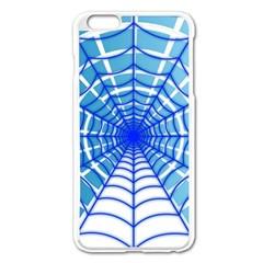 Cobweb Network Points Lines Apple Iphone 6 Plus/6s Plus Enamel White Case