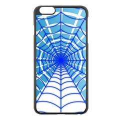 Cobweb Network Points Lines Apple iPhone 6 Plus/6S Plus Black Enamel Case