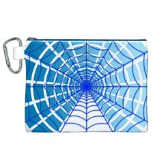 Cobweb Network Points Lines Canvas Cosmetic Bag (XL)