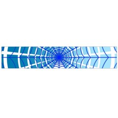 Cobweb Network Points Lines Flano Scarf (Large)