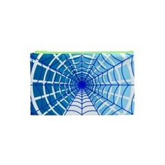 Cobweb Network Points Lines Cosmetic Bag (xs)
