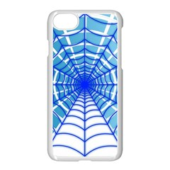 Cobweb Network Points Lines Apple Iphone 7 Seamless Case (white)
