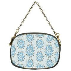 Flower Floral Rose Bird Animals Blue Grey Study Chain Purses (Two Sides)