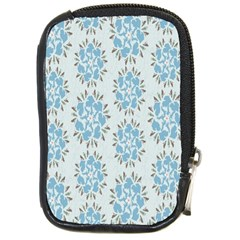 Flower Floral Rose Bird Animals Blue Grey Study Compact Camera Cases