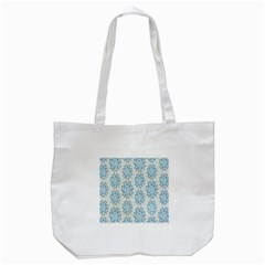 Flower Floral Rose Bird Animals Blue Grey Study Tote Bag (White)