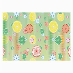 Flower Arrangements Season Pink Yellow Red Rose Sunflower Large Glasses Cloth (2-Side)