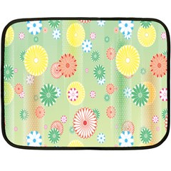 Flower Arrangements Season Pink Yellow Red Rose Sunflower Fleece Blanket (Mini)