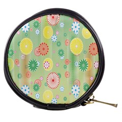 Flower Arrangements Season Pink Yellow Red Rose Sunflower Mini Makeup Bags