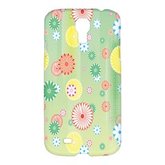 Flower Arrangements Season Pink Yellow Red Rose Sunflower Samsung Galaxy S4 I9500/i9505 Hardshell Case