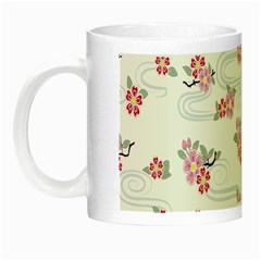 Flower Arrangements Season Sunflower Pink Red Waves Grey Night Luminous Mugs