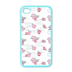 Flower Arrangements Season Sunflower Pink Red Waves Grey Apple iPhone 4 Case (Color)