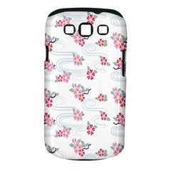 Flower Arrangements Season Sunflower Pink Red Waves Grey Samsung Galaxy S Iii Classic Hardshell Case (pc+silicone)