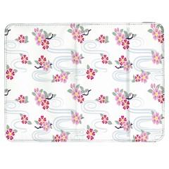 Flower Arrangements Season Sunflower Pink Red Waves Grey Samsung Galaxy Tab 7  P1000 Flip Case