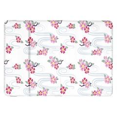 Flower Arrangements Season Sunflower Pink Red Waves Grey Samsung Galaxy Tab 8.9  P7300 Flip Case